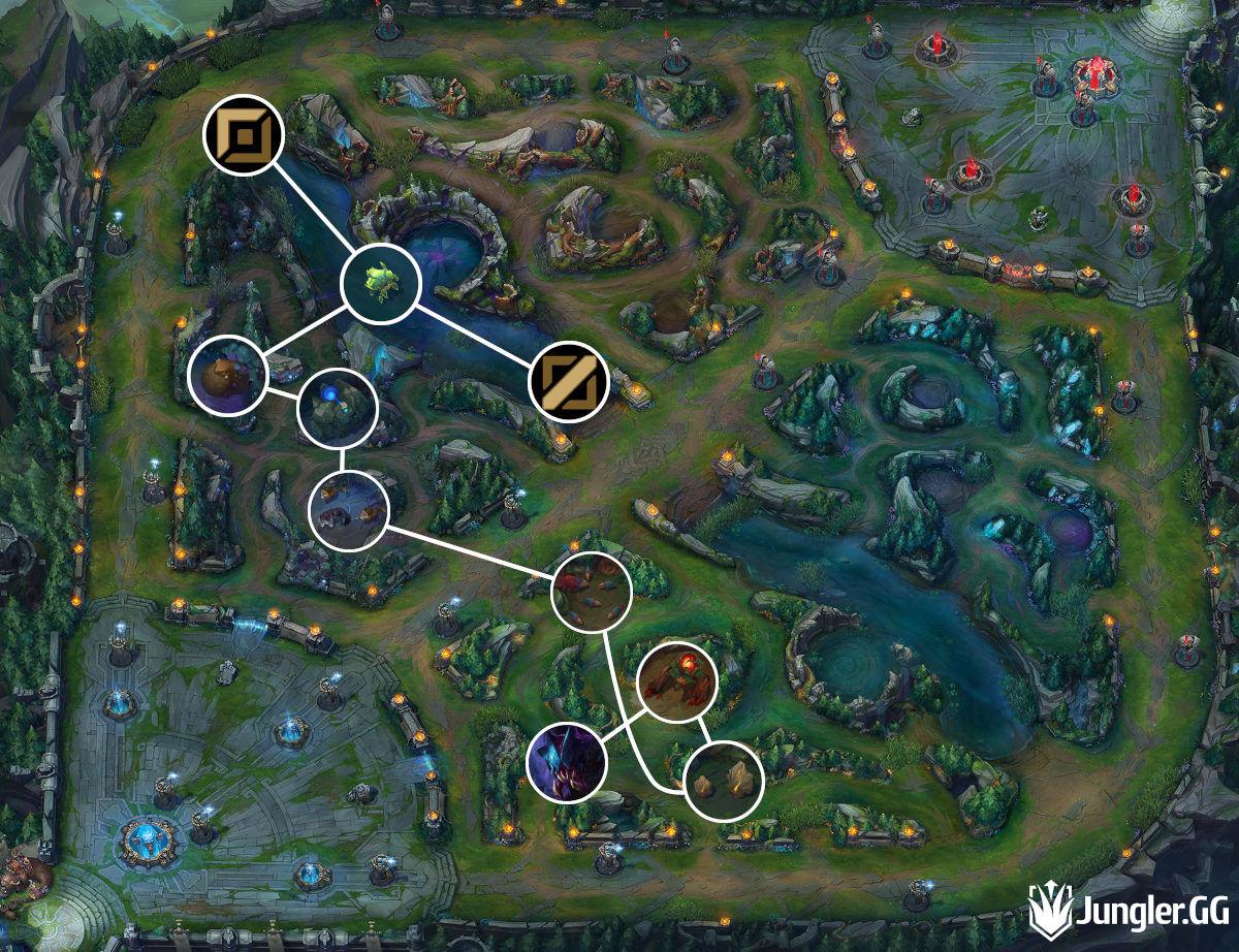 Pro Rek'Sai Jungle Path Full Clear Brambleback Start Blue Team